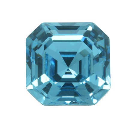 Swarovski Crystal, #4480 Imperial Fancy Stone 10mm, 1 Piece, Aquamarine (Foiled)