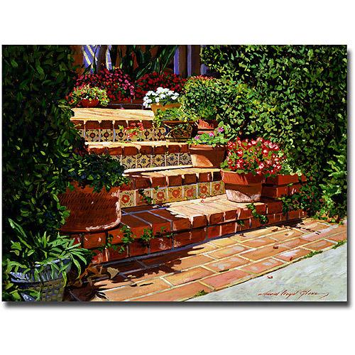 "Trademark Art ""A Spanish Garden"" Canvas Wall Art by David Lloyd Glover"