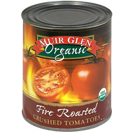 Muir Glen Fire Roasted Crushed Tomatoes, 28 oz (Pack of 12)