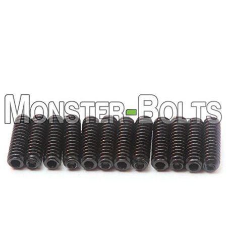 Guitar Saddle Bridge Height Adjustment Hex Screws set (12) for US/Inch and Metric - MonsterBolts (Inch - #4-40 x 3/8