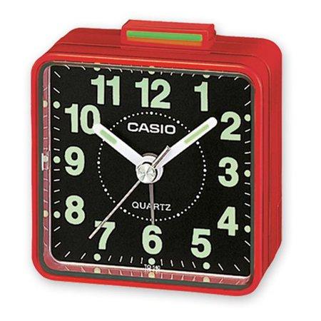 TQ140 Travel Alarm Clock - Red, Beep Alarm By Casio