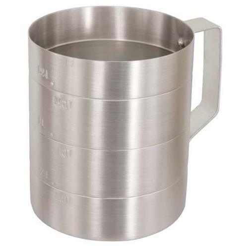 CRESTWARE MEA05D Measuring Cup, Aluminum, 1/2 qt. Dry