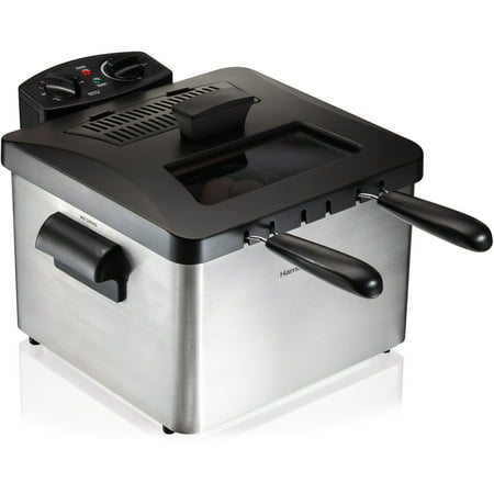 Hamilton Beach Triple Basket 2.9qt Deep Fryer - Stainless Steel 35034