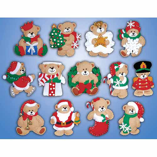 "Tobin Ornaments Felt Applique Kit, 3"" x 4"""