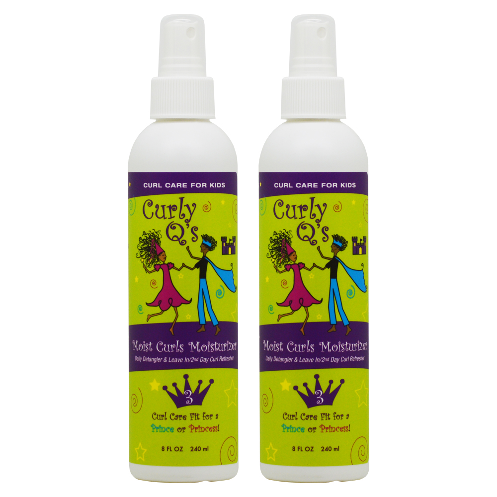 "Curls Q's Moist Curls Moisturizier 8oz ""Pack of 2"""
