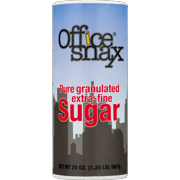 Office Snax Granulated Sugar Canister, 20 Oz