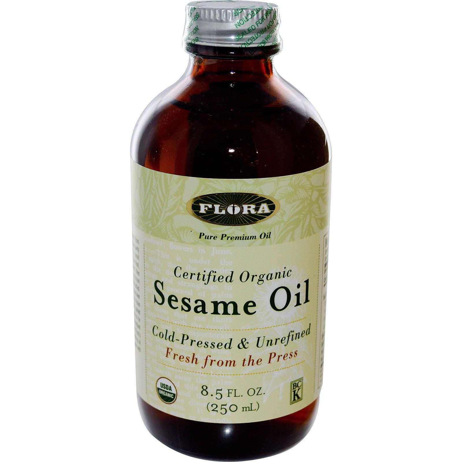 Flora, Certified Organic Sesame Oil, 8.5 fl oz (pack of 1)