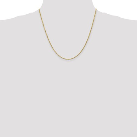 14k Yellow Gold 1.6mm Solid Lobster Link Rope Chain Necklace 20 Inch Pendant Charm Machine Made Fine Jewelry Gifts For Women For Her - image 1 de 9