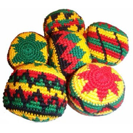 MultiColor Hacky Sack SINGLE ASSORTED RASTA- Assorted Colors and Geometric Patterns