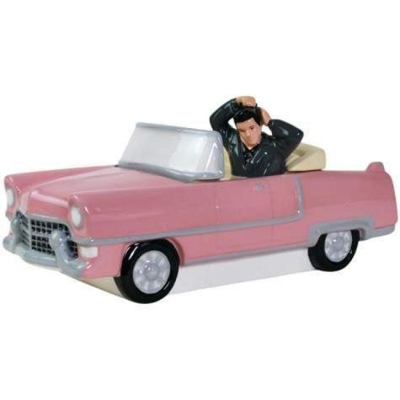 5.5 Inch Elvis Presley Pink Convertible Cookie Jar Container