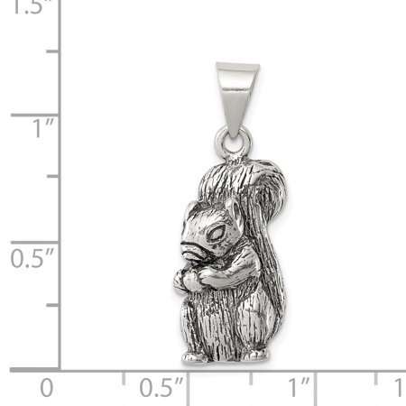 925 Sterling Silver Squirrel Pendant Charm Necklace Animal Wild Man Fine Jewelry For Dad Mens Gifts For Him - image 2 of 6