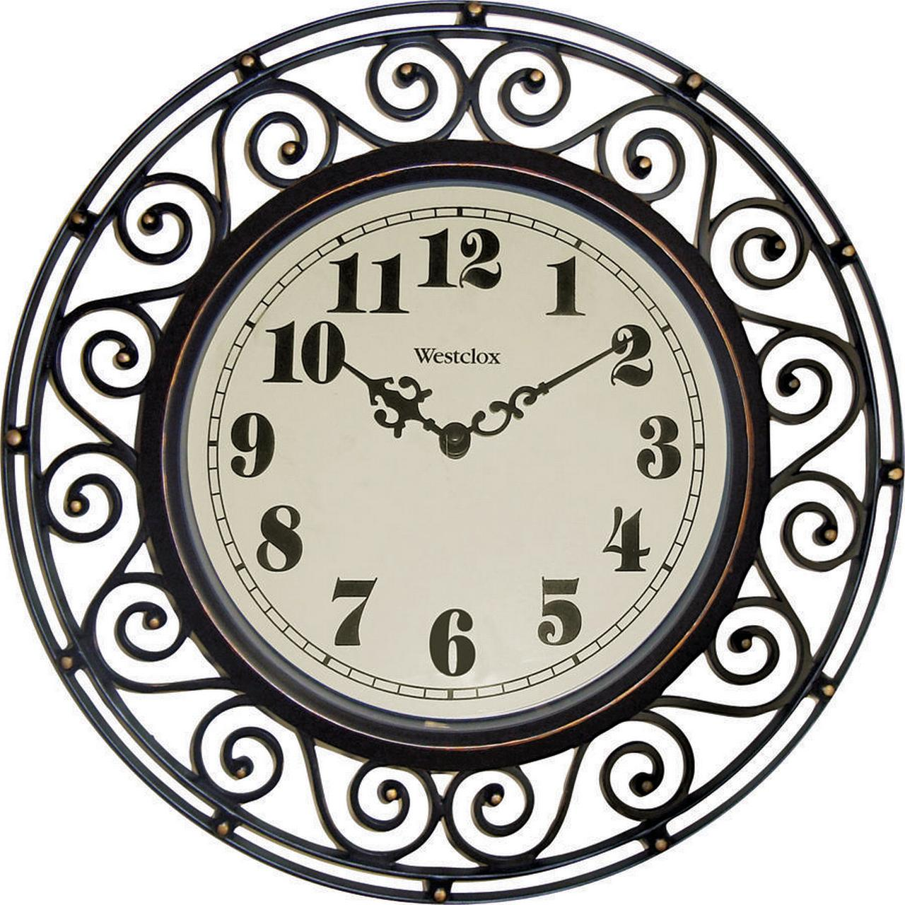 Westclox Wrought Iron Look Decor Wall Clock style# 32021A