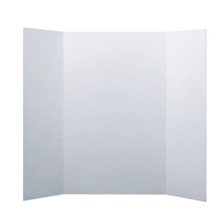 """Flipside Corrugated Project Board, 1-Ply, 36"""" x 48, White, Box of 24"""