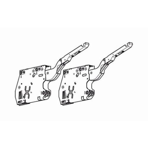 Blum 20K2300TNA AVENTOS HK TIP-ON Cabinet Lift Mechanism Set with Power Factor o