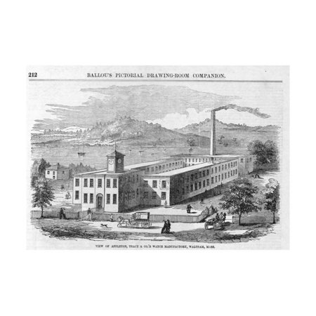 Magazine Illustration (View of Appleton, Tracy & Co.'S Watch Manufactory Magazine Illustration Published in Ballou's Picto Print Wall Art )