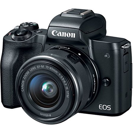 Canon Black EOS M50 2680C011 Mirrorless Camera with 24.1 MegaPixels, 15-45mm Lens Included