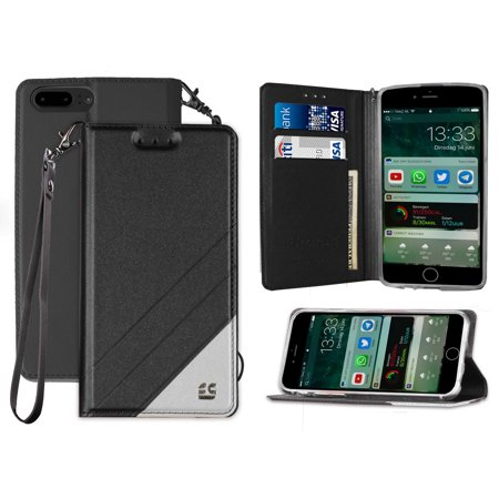 new concept 659b2 800b4 iPHONE 7/8 PLUS WALLET CASE, WRIST STRAP LANYARD WALLET CREDIT CARD CASE  VIEWING STAND FOR APPLE iPHONE 7/8 PLUS