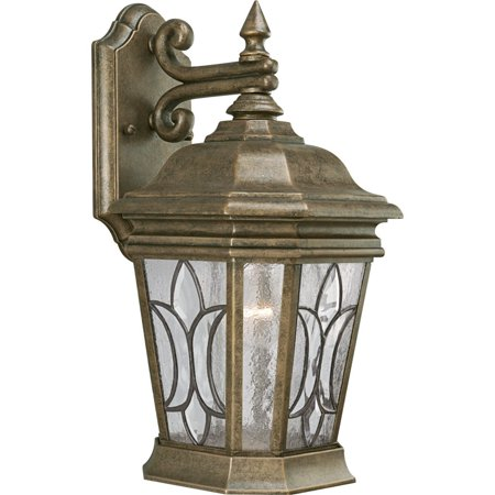 Progress Lighting Cranbrook Collection Gilded Iron 1 Light Wall Lantern