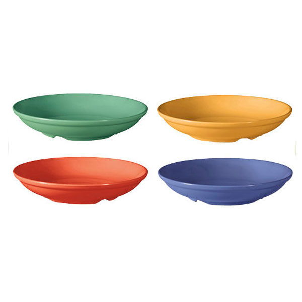 Diamond Mardi Gras 1.1 qt 9 x 1.75 Bowl Mix Pack of 4 Mardi Gras Colors Melamine/Case of 12