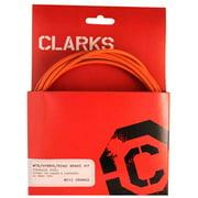 Clarks Stainless Steel Sport Brake Kit, MTB/RD, SS, Orange
