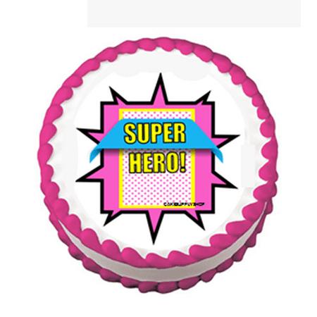 Boy's Super Hero Theme Edible Cake Decoration Topper for $<!---->