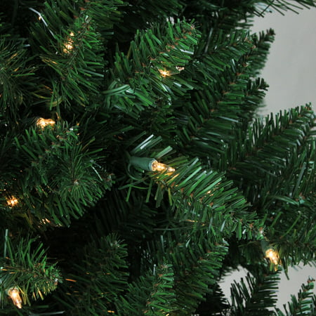 9' Pre-Lit Medium Montana Pine Artificial Christmas Tree - Clear Lights - image 1 of 2