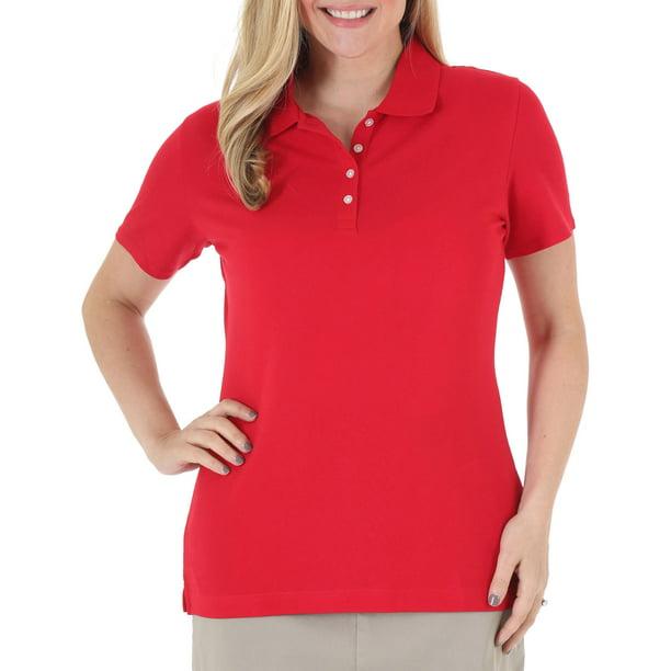 Women's Plus-Size Short Sleeve Polo