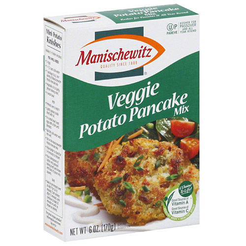 Manischewitz Veggie Potato Pancake Mix, 6 oz, (Pack of 12)