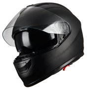 1Storm Motorcycle Full Face Helmet Street Bike Dual Visor/Sun Shield HJAH15  Matt Black