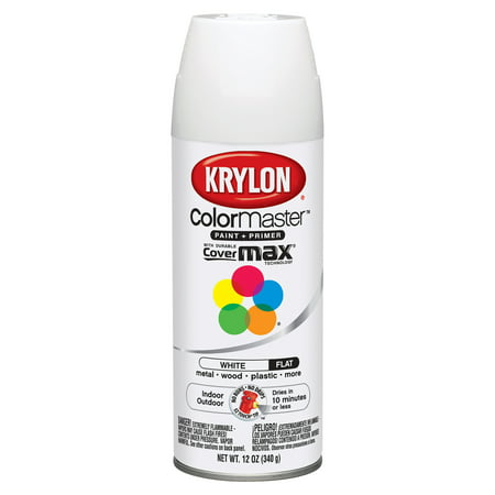 Krylon ColorMaster Paint & Primer, 12 oz., Flat White