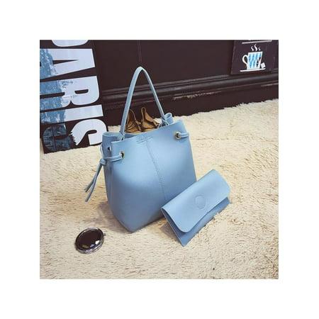 6aa4935169494 Meigar 2pcs Handbag Tote Bag Crossbody Messenger Purse,PU Leather Large  Simple For Women Lady - Walmart.com