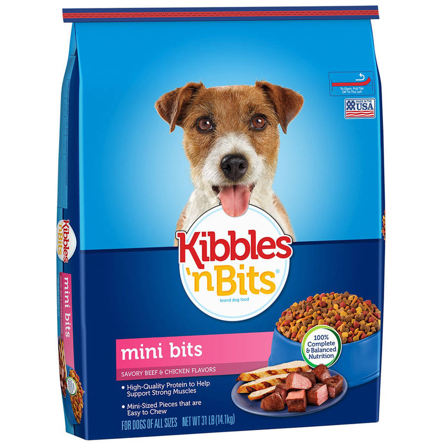 Kibbles 'n Bits Small Breed Mini Bits Savory Beef and Chicken Flavors Dog Food, 31-Pound
