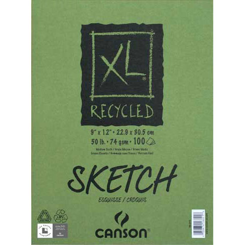 Canson XL Recycled Sketch Pad, 18in x 24in, 50 Sheets