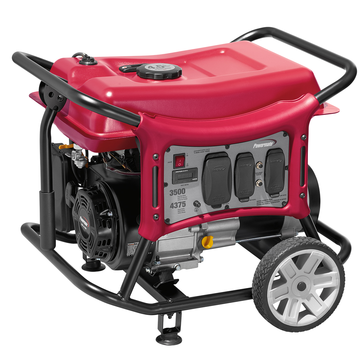 Powermate PC0143500 Portable Generator, Recoil Start, 3500-Watt