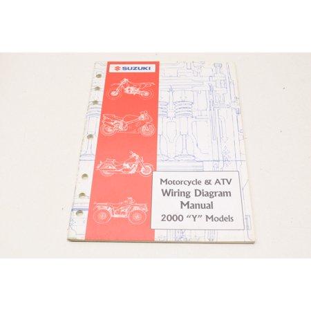 suzuki 99923-54000 motorcycle & atv wiring diagram manual 2000 'y' models  qty 1 - walmart com