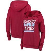 Colorado Rapids 5th & Ocean by New Era Women's Fleece Pullover Hoodie - Burgundy