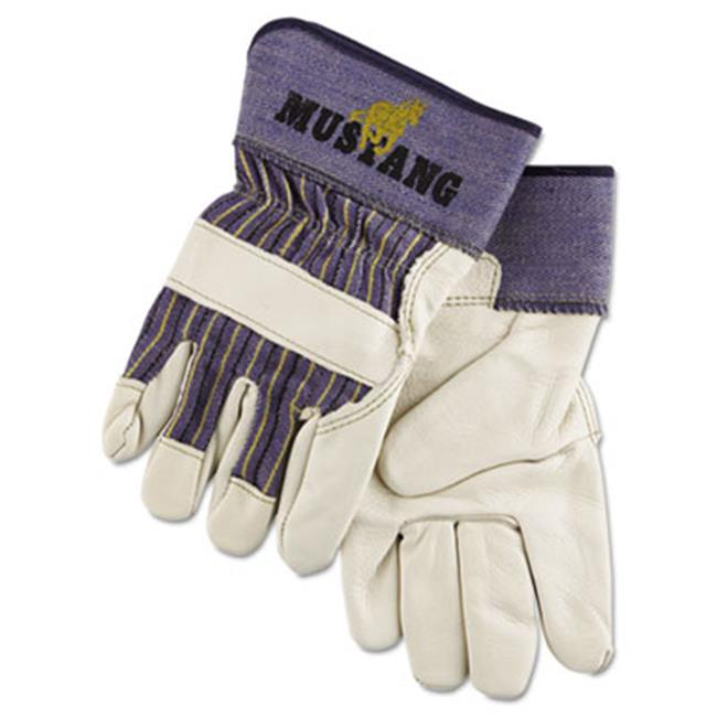 Mpg 1935XL Mustang Leather Palm Gloves - Blue & Cream, Extra Large - image 1 of 1