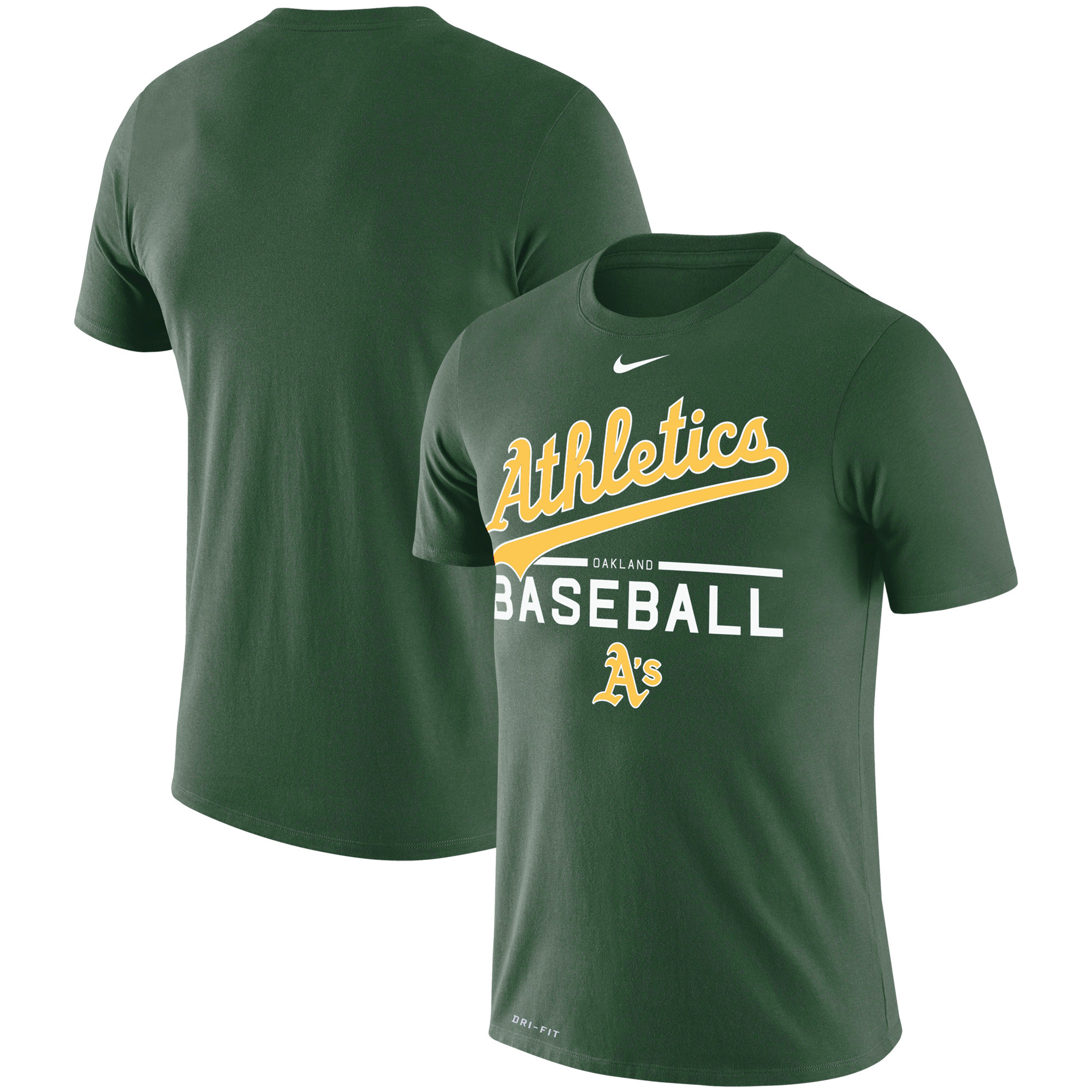 Oakland Athletics Nike Practice Performance T-Shirt - Green