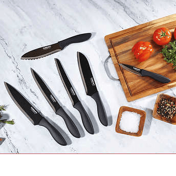 Cuisinart Black Metallic Knife Set 6 Piece Walmart Com