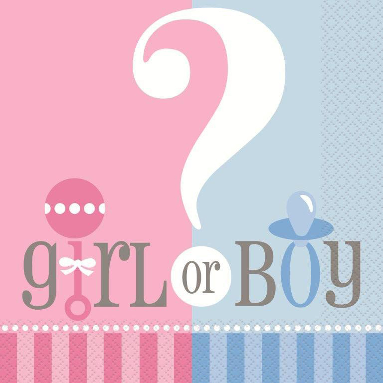 Gender Reveal Party Napkins, 6.5 in, 20ct