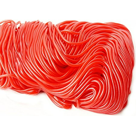 Strawberry Licorice Laces (Kervan, Strawberry Red Laces, 2 Lb)