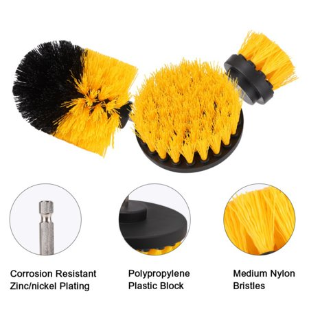 Tinymills 3Pcs/Set Tile Grout Drill Brush Power Scrub Cleaning Tub Cleaner Attachment