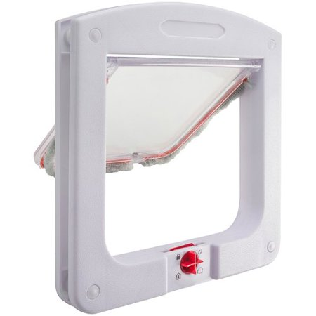 Dog Cat Flap Doors with 4 Way Lock for Pets Entry & Exit - Durable Model by Paws & -