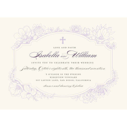 Rustic Garden Standard Wedding Invitation