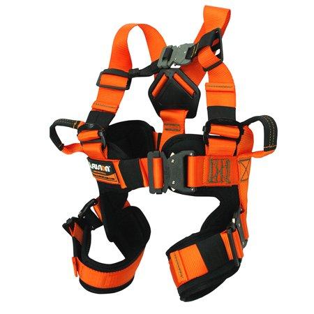 Fusion Climb Rebounder Kids Full Body Adjustable Bungee Trampoline Harness 23kN XS Orange (Rock Climbing Harness Kids)