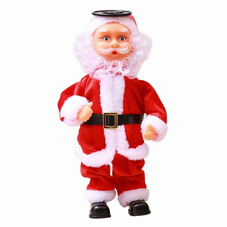 Akoyovwerve Christmas Electric Dancing Music Santa Claus Doll Xmas Party Holiday Decorations for Children's Kids Toys Gifts ()