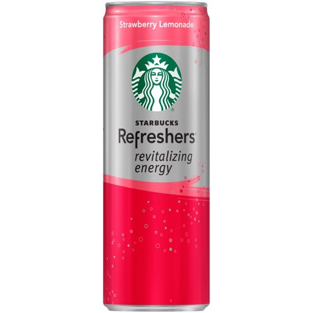 Starbucks Refreshers Sparkling Green Coffee Energy Beverage Strawberry Lemonade, 12.0 FL OZ