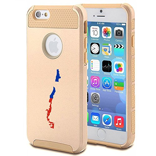 Apple iPhone 5c Shockproof Impact Hard Case Cover Chile Chilean Flag (Gold ),MIP