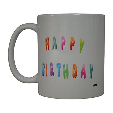 Best Coffee Mug Happy Birthda Novelty Cup Great Gift Idea Present For Men or Women Office Work Employee Boss Coworkers