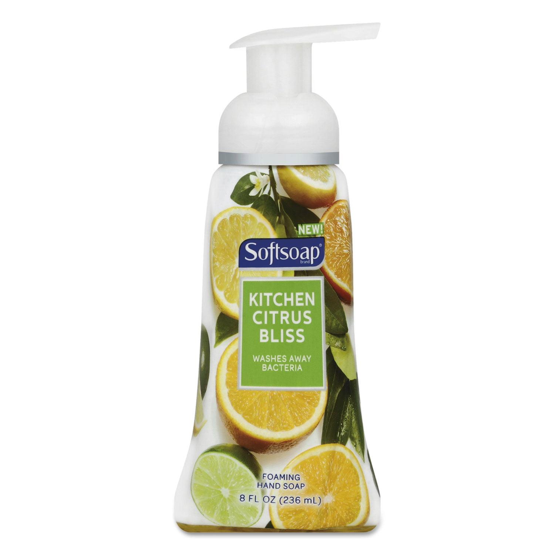 (4 pack) Softsoap Foaming Liquid Hand Soap, Kitchen Citrus Bliss, 8 Oz